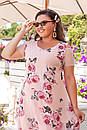 Платья женское креп шифон  50-56 размер , фото 3