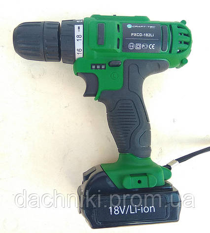 Шуруповерт ударный аккумуляторный Craft-tec PXCD-182Li, фото 2