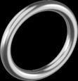 Кільце зварне, поліров.6х35мм А4