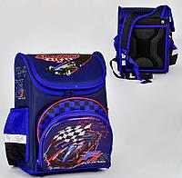 Ортопедический каркасный рюкзак Спортивный болид на 1 отделение и 4 кармана