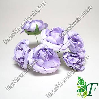 Роза бумага 6шт фиолетовая