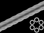 Трос стальной 12 мм 6х12+1FC ISO 2408 оцинкованный (бухта 100 м)