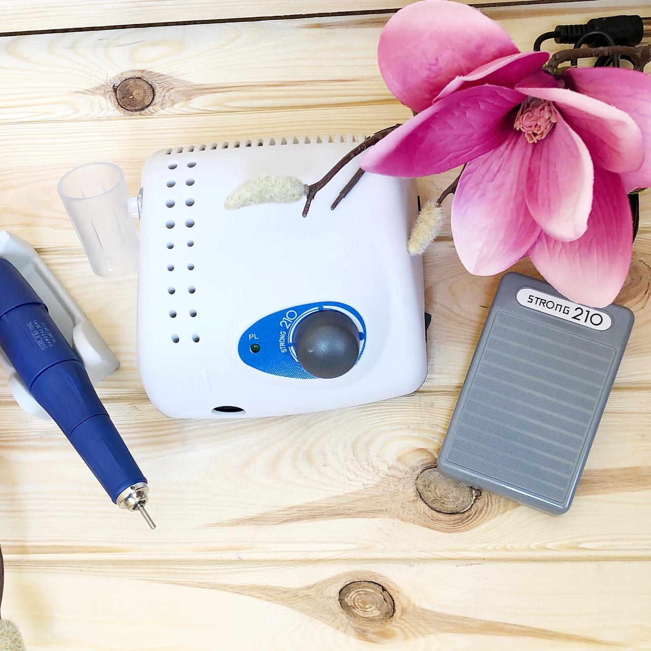 Аппарат для маникюра и педикюра (фрезер) Strong 210 +ручка 105L