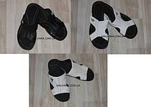 Шлепки мужские кожаные черные,белые арт 05  размеры.