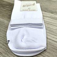 Шкарпетки чоловічі демісезонні х/б з лайкрою Елегант, 27 розмір, білі, 077, фото 2