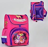 Ортопедический каркасный рюкзак Мой маленький Пони на 1 отделение и 4 кармана