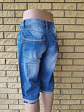 Бриджи мужские брендовые  джинсовые коттоновые  D.KING, фото 3