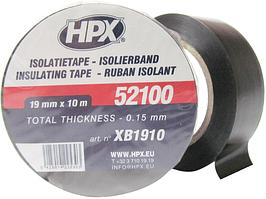 HPX Ізострічка ПВХ 19мм*10м чорн.XB1910