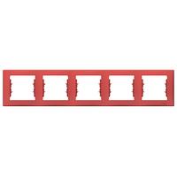 Рамка 5-местная Красный Sedna Schneider, SDN5800941