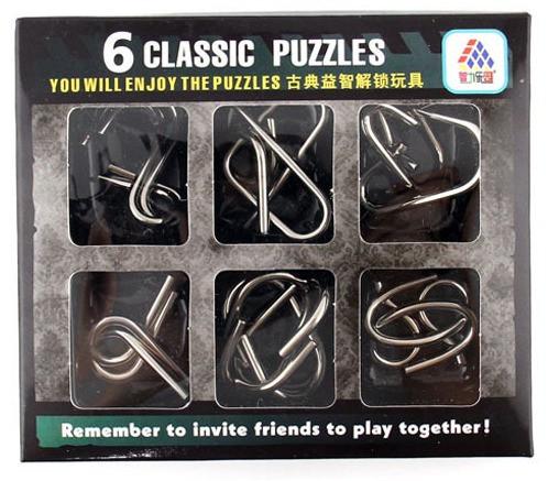 6 металевих головоломок Enjoy Puzzles