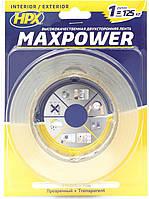 HPX MAXPOWER - прозрачная двусторонняя лента (скотч) для экстремальных нагрузок - 19мм x 5м HT1905