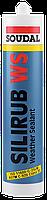 Герметик фасад. SILIRUB WS чорн.600мл.