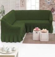 Чехол на угловой диван «Зелёный» Турция 1.035грн