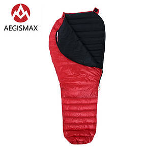Пуховый спальный мешок AEGISMAX NANO. +10°C +5°C. Размер M. Пуховий спальний мішок кокон nano.