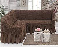 Чехол на угловой диван «Коричневый» Турция 1.035грн