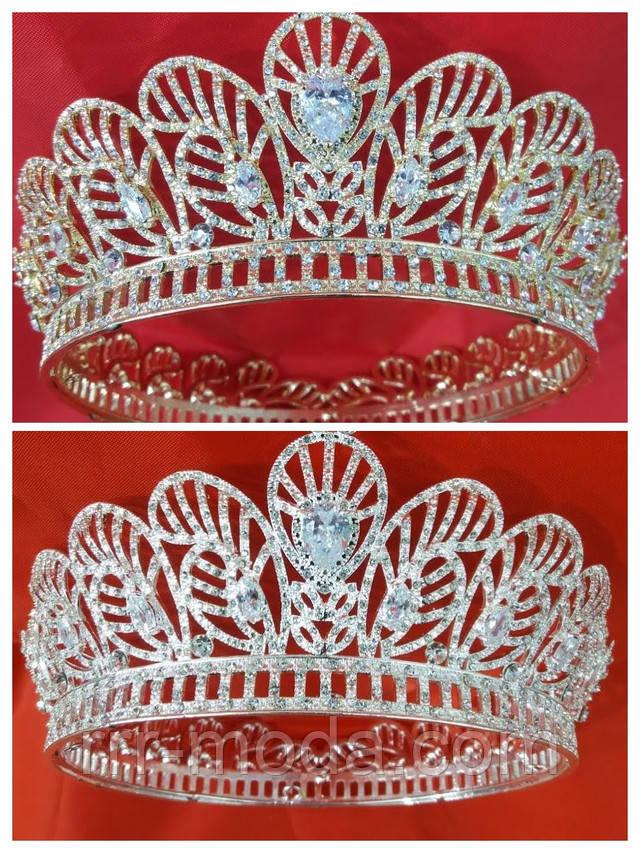 Царские высокие и золотые короны оптом в Украине. Свадебная бижутерия и украшения.