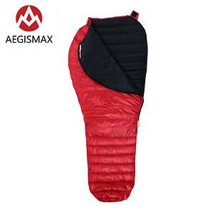 Пуховый спальный мешок AEGISMAX NANO +10°C +5°C. Размер L. Пуховий спальний мішок кокон.