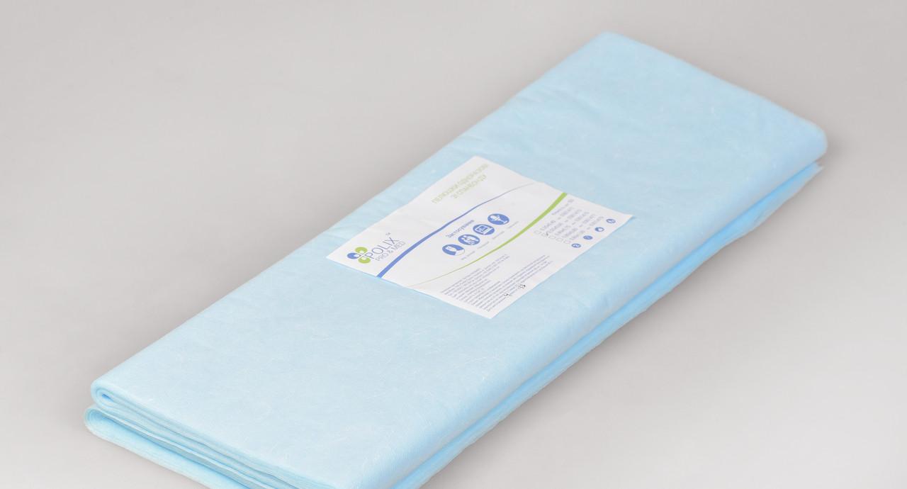 Пеленки одноразовые 0,5*0,6 м Polix PRO&MED со спанбонда 25г/м2 (50шт/уп.) 500 ШТ 10 УП Голубые