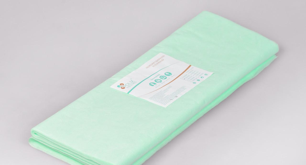 Пеленки одноразовые 0,5*0,6 м Polix PRO&MED со спанбонда 25г/м2 (50шт/уп.) 500 ШТ 10 УП Мятные