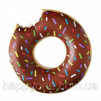 """Надувной круг """"Пончик Brown"""" (120 см) коричневый"""