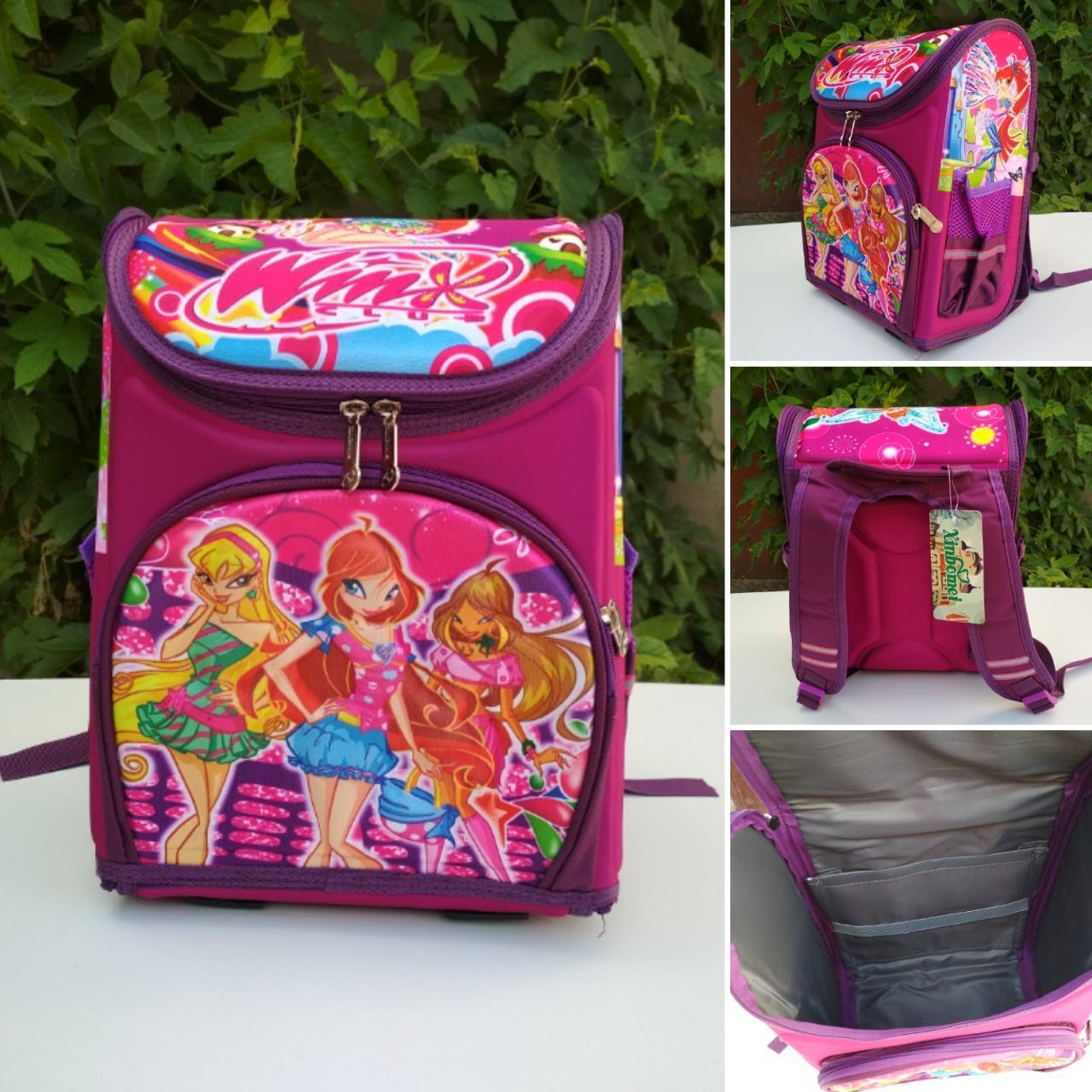 Ортопедический школьный рюкзак Winx для девочки 30*26*12 см, фото 1