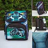 Каркасный ортопедический ранец Мотоциклист для мальчика 34*26*16 см, фото 1