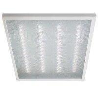 На этой светодиодной панеле 600*600 ЛЕД LED видны точки светодиодов, т.к. используется прозрачный рассеиватель