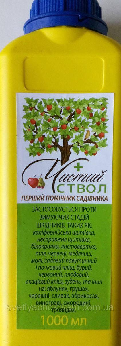 Инсекто акарицид Чистый Ствол препарат для борьбы с зимующими стадиями вредителей, флакон 1 л