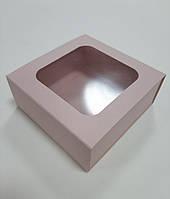 Коробочка-футляр пудровая 90х90х35 мм.