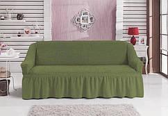 Чехол универсальный на трёхместный диван «Оливка» Турция 895грн