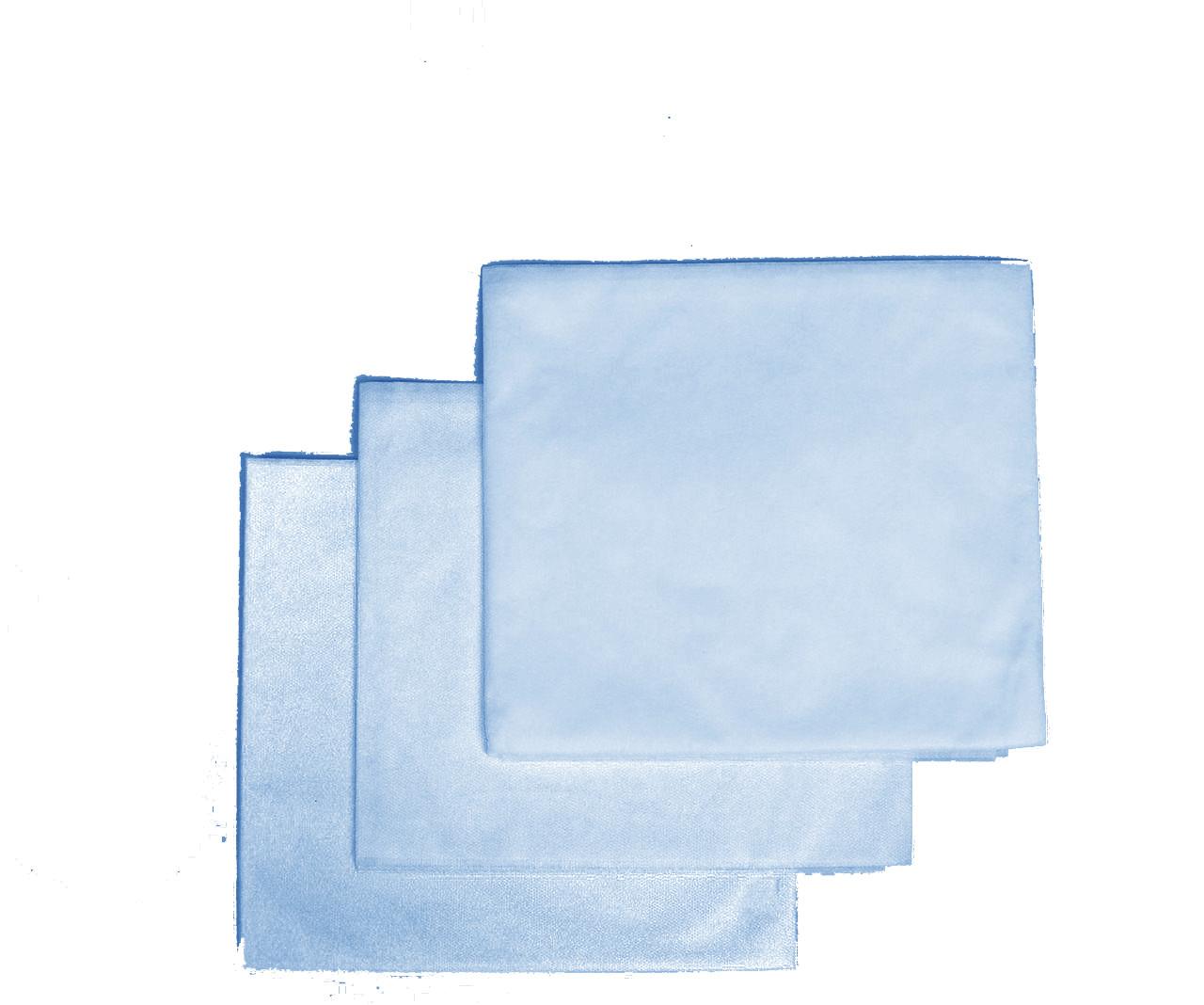 Пеленки одноразовые 0,8*1,0 м Polix PRO&MED со спанбонда 25г/м2 (50шт/уп.) Голубые
