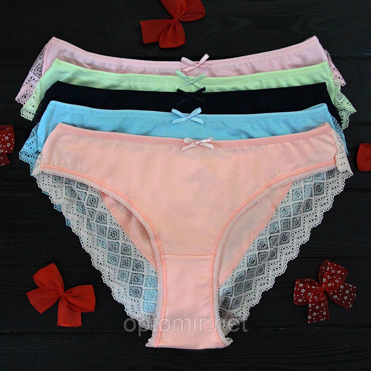 Трусы слипы женские Pink Secret Турция M | 5 шт.