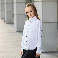 """Блузка школьная для девочки длинный рукав, на выпуск """"Мика"""" , фото 1"""