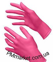 Перчатки нитриловые розовые S (100 шт.)