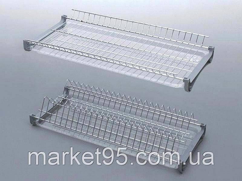 Сушарка для посуду у шафу 500 мм. хром