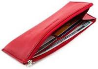 Красный тонкий женский кошелёк из натуральной кожи   Marco Coverna