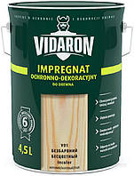 Пропитка для дерева с биозащитой Импрегнат Vidaron (V01 бесцветный) 4,5 л