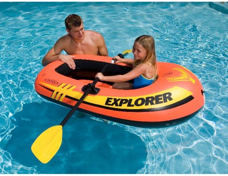 Лодка надувная Intex 58355 EXPLORER на 1 человека Красный