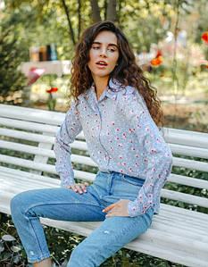 Рубашка LiLove 1-004-1 42-44 серый