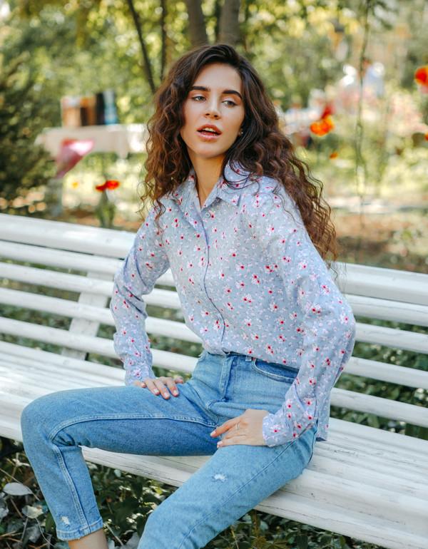 Рубашка LiLove 1-004-1 44-46 серый
