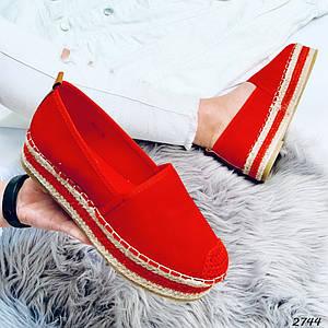 Слипоны красные