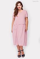 Платье летнее А-силуэт, свобода в каждом движении, комфорт на все лето, р.48 код 2040М