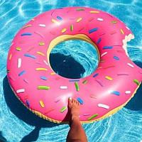 """Надувной круг """"Пончик"""" (120 см) розовый"""