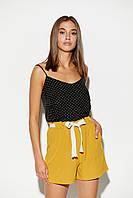 Летние женские горчичные шорты, фото 1