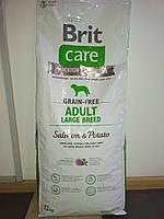 Корм Brit Care GF Adult Large Breed Salmon Брит Кеа для дорослих собак крупних порід з лососем12 кг