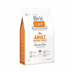 Корм Brit Care Adult Medium Breed Lamb Брит Кеа ягня рис для дорослих собак середніх порід 3 кг