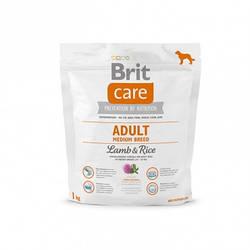 Корм Brit Care Adult Medium Breed Lamb Брит Кеа ягня рис для дорослих собак середніх порід 1 кг