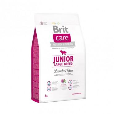 Корм Brit Care Junior Large Breed Lamb Брит Кеа для цуценят гиганські порід з ягням і рисом 3 кг