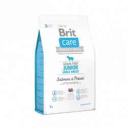 Корм Brit Care GF Junior Large Breed Salmon Брит Кеа для цуценят великих порід з лососем 3 кг