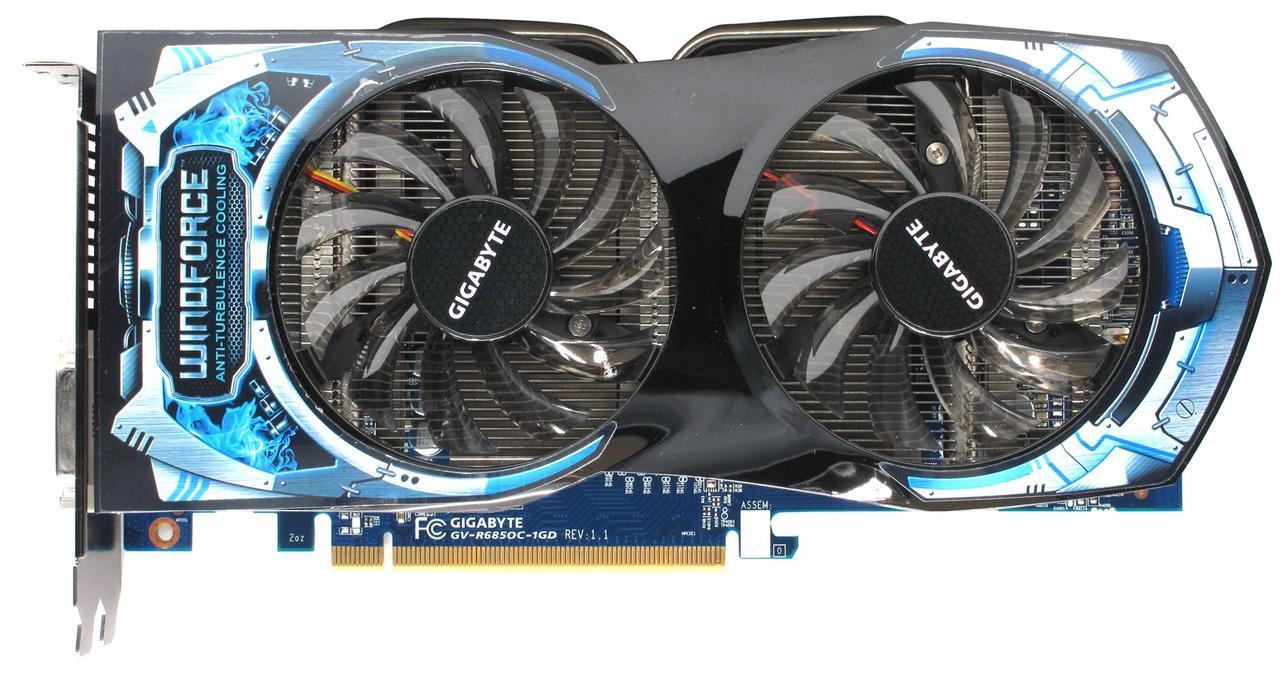 Видеокарта GIGABYTE HD6850 GV-R685OC-1GD 1GB GDDR5 256bit WindForce Б/У